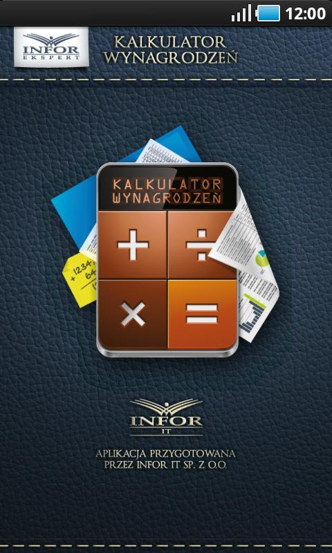 Kalkulator wynagrodzeń - screenshot