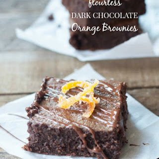 Flourless Dark Chocolate Orange Brownies