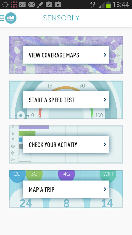 Speedtest, 4G/LTE/3G/Wifi maps - screenshot