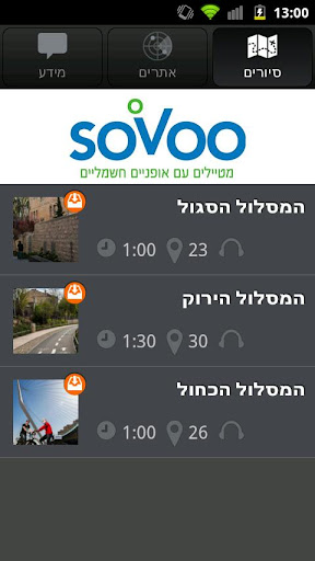 sovoo- app guided e. bike tour