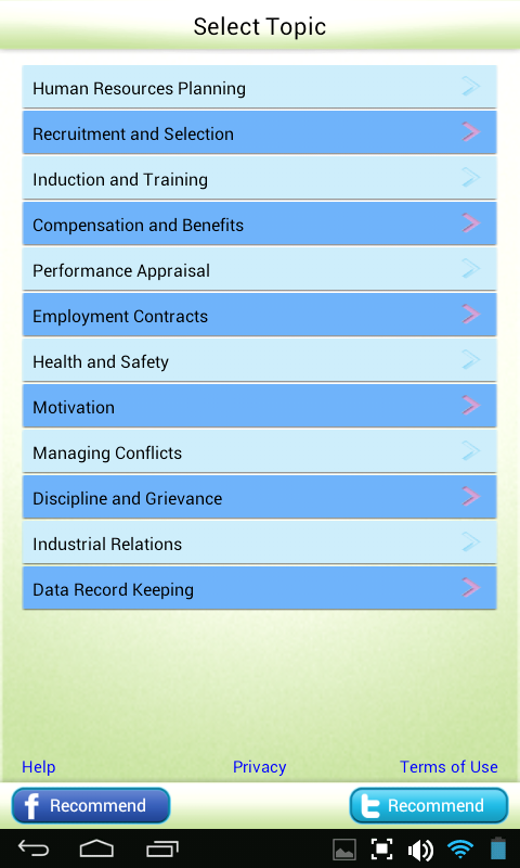 MBA Human Resources Learn Test- screenshot