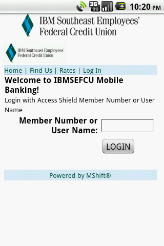IBM Southeast EFCU - screenshot