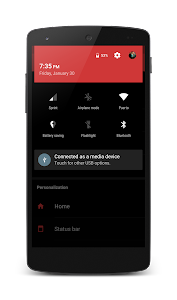 Dark Holo Red CM12 Theme v1.4.1