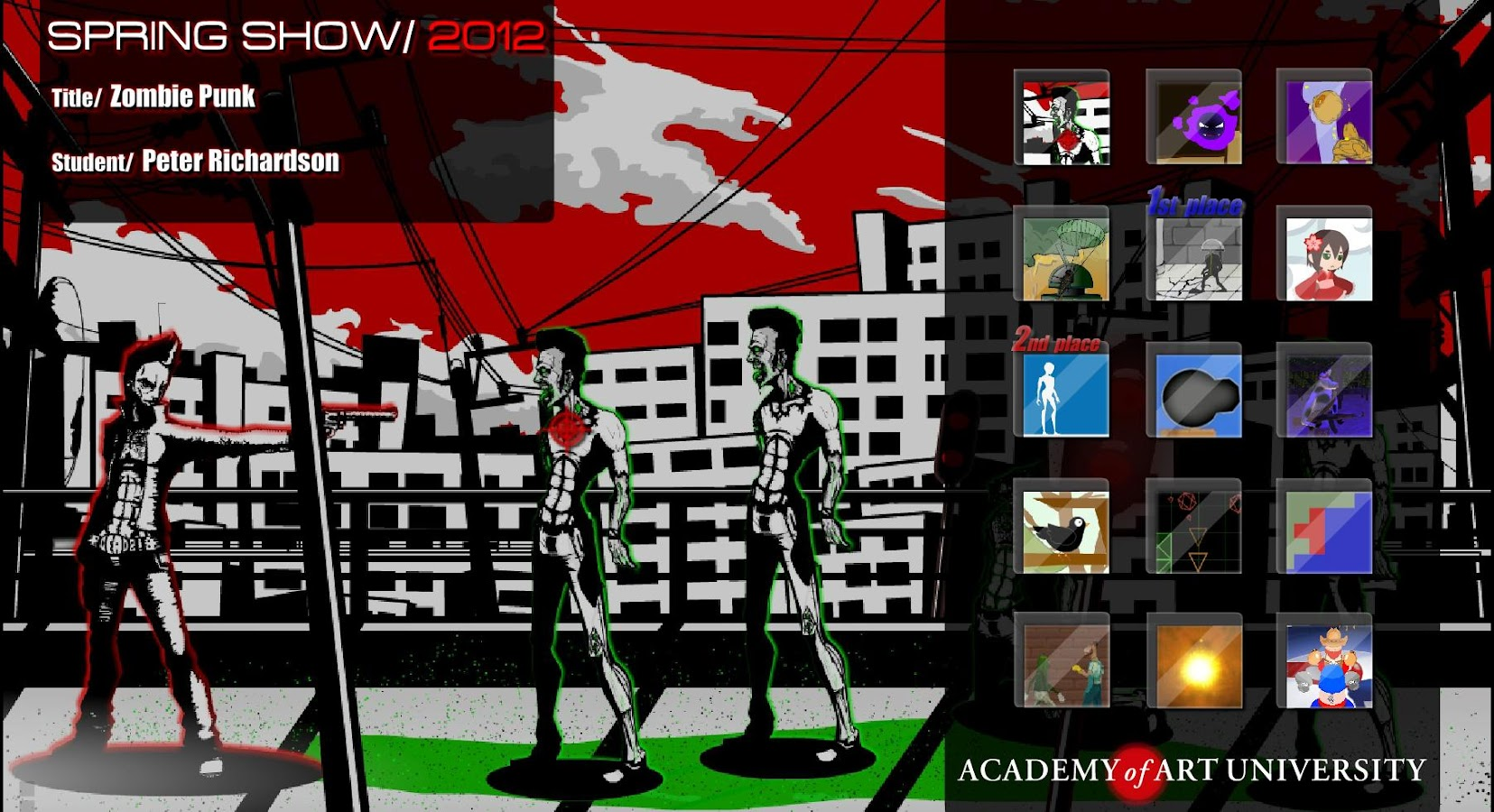 AAU Game Design: SpringShow12 - screenshot