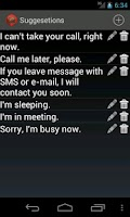 Screenshot of I'm busy, now. - Block spams
