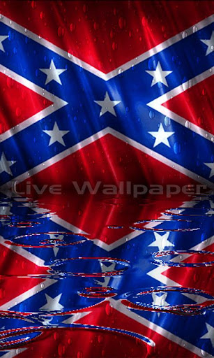 Rebel Flag Raindrop