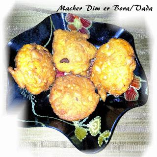Macher Dim Er Bora Recipe