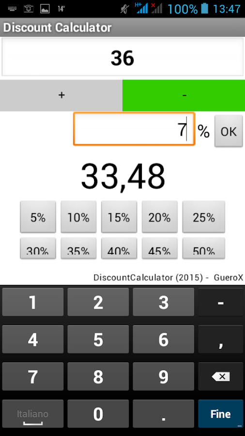 Market Discount Calculator- screenshot