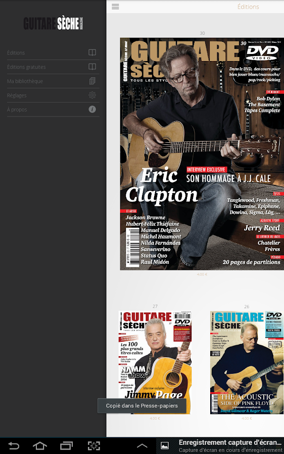 Guitare Sèche, Le Mag- screenshot