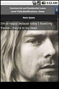 Kurt Cobain quotes - screenshot thumbnail