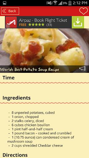 玩免費程式庫與試用程式APP|下載Potato Soup Recipes app不用錢|硬是要APP