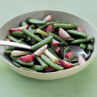 Sauteed Snap Peas with Scallions and Radishes.