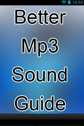 Better Mp3 Sound Guide