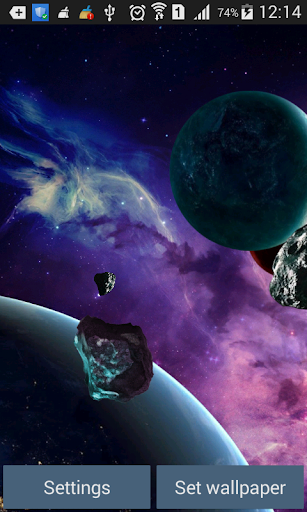 Space landscape Live Wallpaper