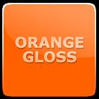 Free Orange Gloss Theme icon