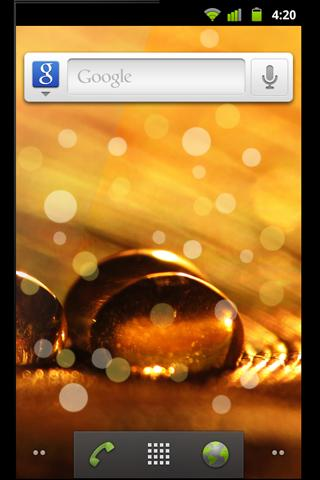 Golden Dreams Live Wallpaper - screenshot