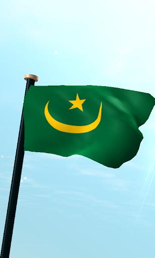 Mauritania Flag 3D Wallpaper