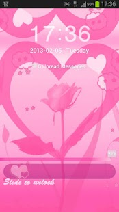 GO Locker Theme Pink Valentine - screenshot thumbnail