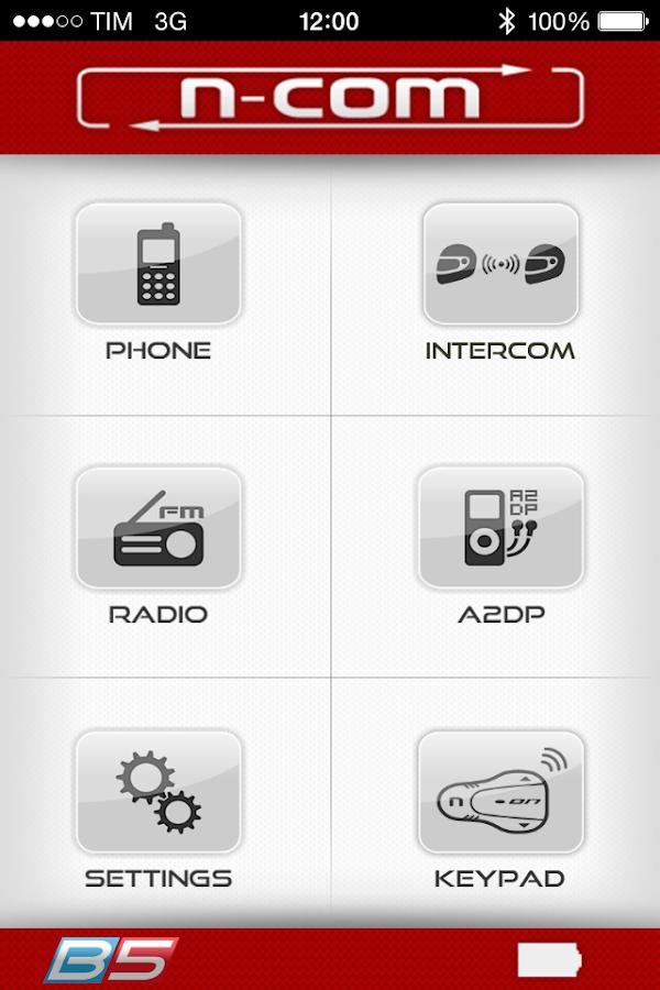 Screenshots of N-Com for iPhone