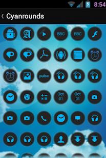玩免費娛樂APP|下載CyanRounds Icon Pack app不用錢|硬是要APP