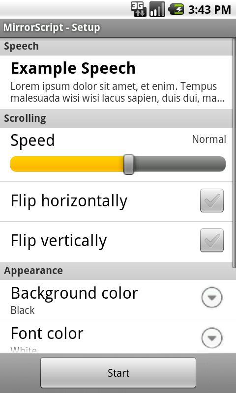 Free Teleprompter- screenshot