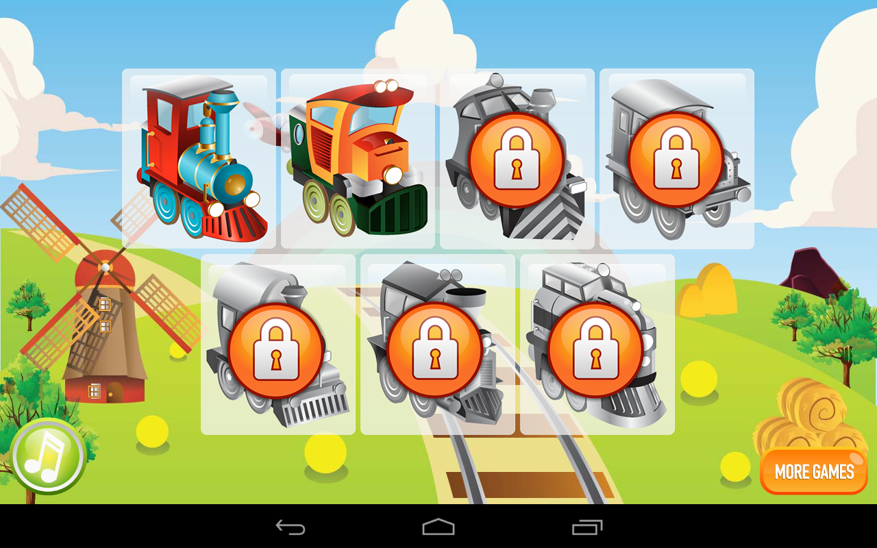 Kids ABC Learning Trains Lite - screenshot