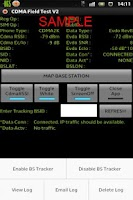 Screenshot of CDMA Field Test Application