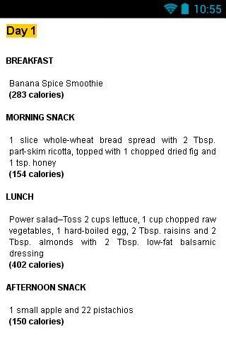 Weight loss diet plan 6 weeks