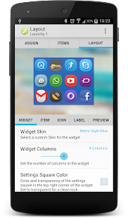 Launchy Widget - náhled