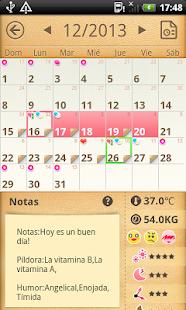 Calendario Periodo Menstrual - screenshot thumbnail