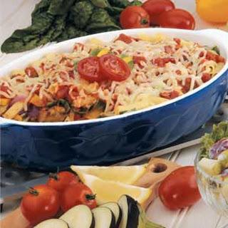 Roasted Vegetable Ziti Bake.