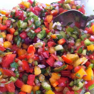 The BEST fresh homemade salsa.