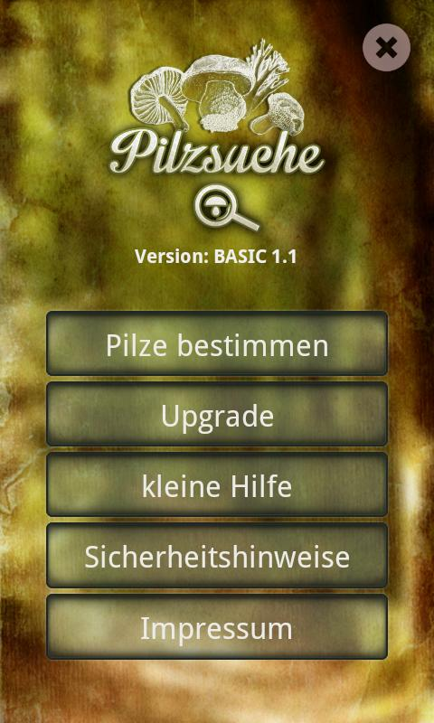 Pilzsuche – Screenshot