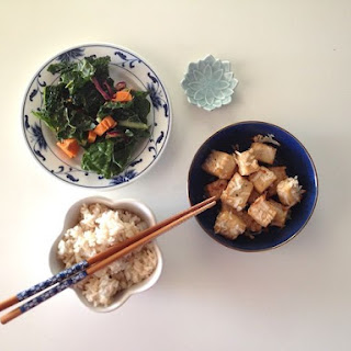 Baked Coconut Tofu with Spiced Coconut Rice.