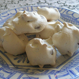 Chocolate Chip Meringue Cookies.