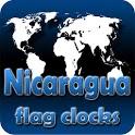 Nicaragua flag clocks icon