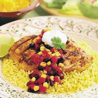 Fiesta Chicken with Black Bean Salsa