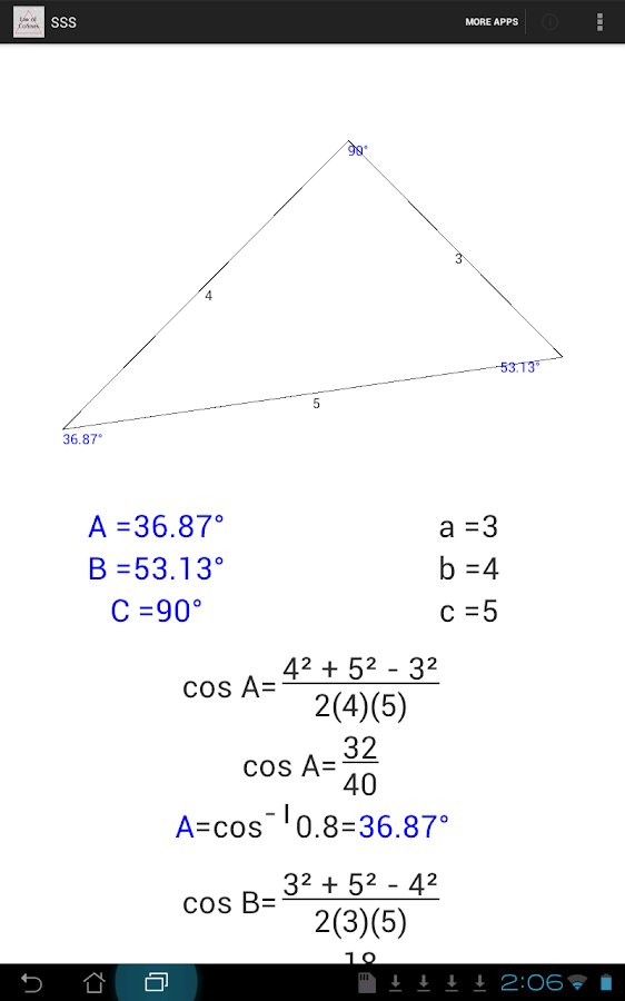 how to solve law of cosines