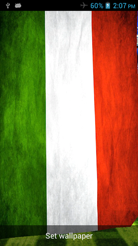 Italy 3D Flag Live Wallpaper Android App Screenshot ...