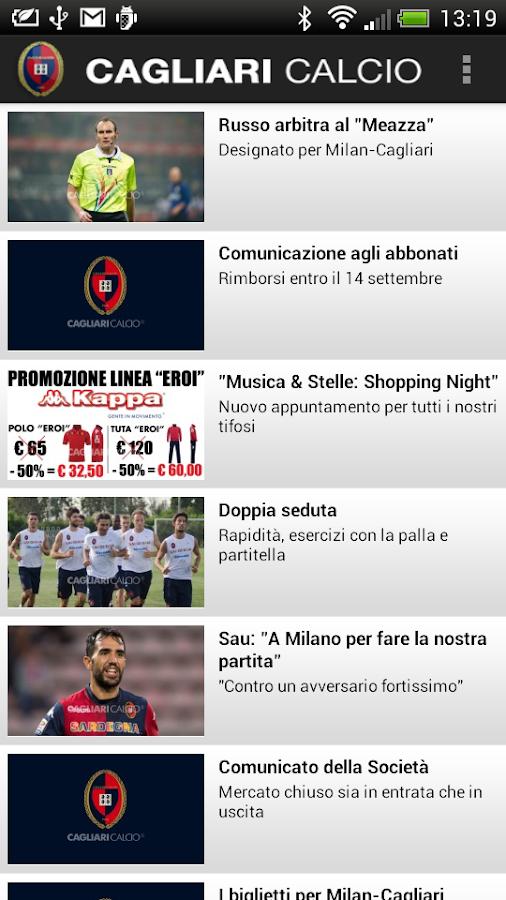 Cagliari Calcio - screenshot