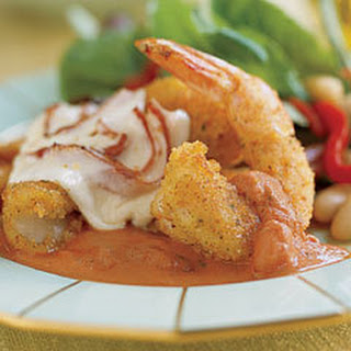 Elegant Shrimp Parmesan.