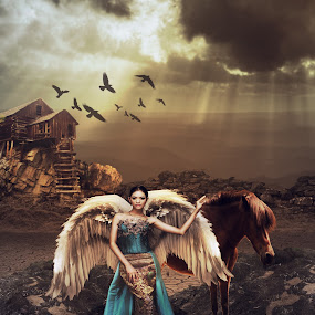 Angel of Dynasty by Karazy Shooke - Digital Art People ( angel, dheny patungka, model, art, digital art, manipulation, photoshop )