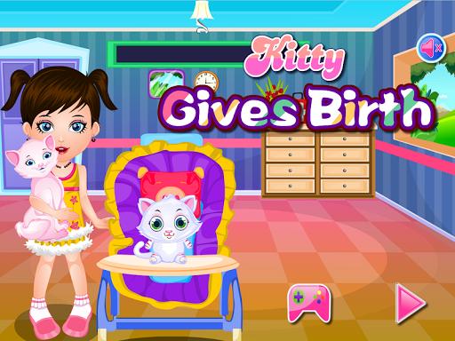 Kitty Gives Birth