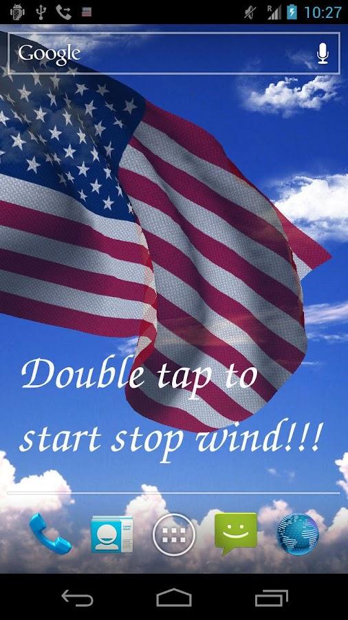 3D US Flag Live Wallpaper - screenshot