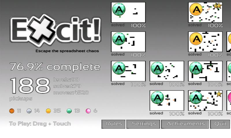 Excit Demo- screenshot
