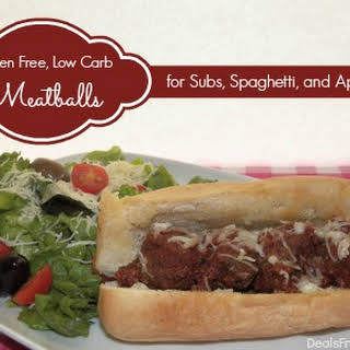 Gluten Free, Low Carb Meatballs for Subs, Spaghetti, or Appetizers.
