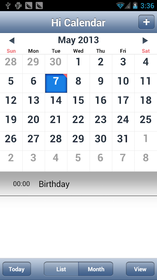 Hi Calendar - screenshot
