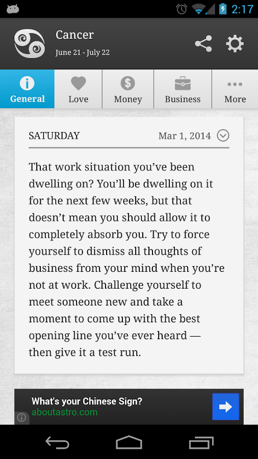 Smart Horoscope - screenshot