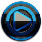 Poweramp skin Black Blue icon