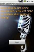 Screenshot of Deine Mutter Sprüche